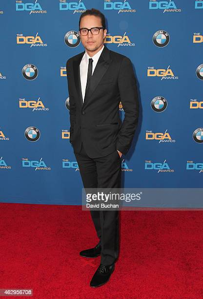 Director Cary Fukunaga attends the 67th Annual Directors Guild Of America Awards at the Hyatt Regency Century Plaza on February 7 2015 in Century...