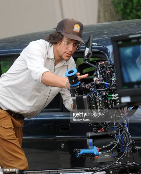 Director Cary Fukunaga on the set of the Netflix series 'Maniac' on August 25 2017 in New York City