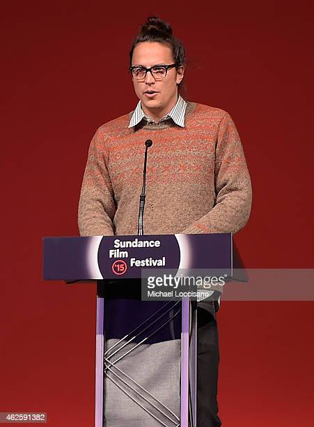 Director Cary Fukunaga speaks onstage at the Awards Night Ceremony during the 2015 Sundance Film Festival at the Basin Recreation Field House on...