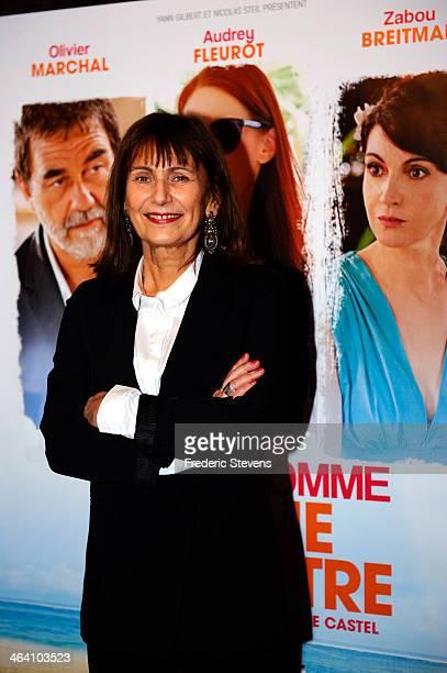 Director Catherine Castel attends the 'Belle Comme La Femme D'un Autre' Paris Premiere At UGC Bercy on January 20 2014 in Paris France