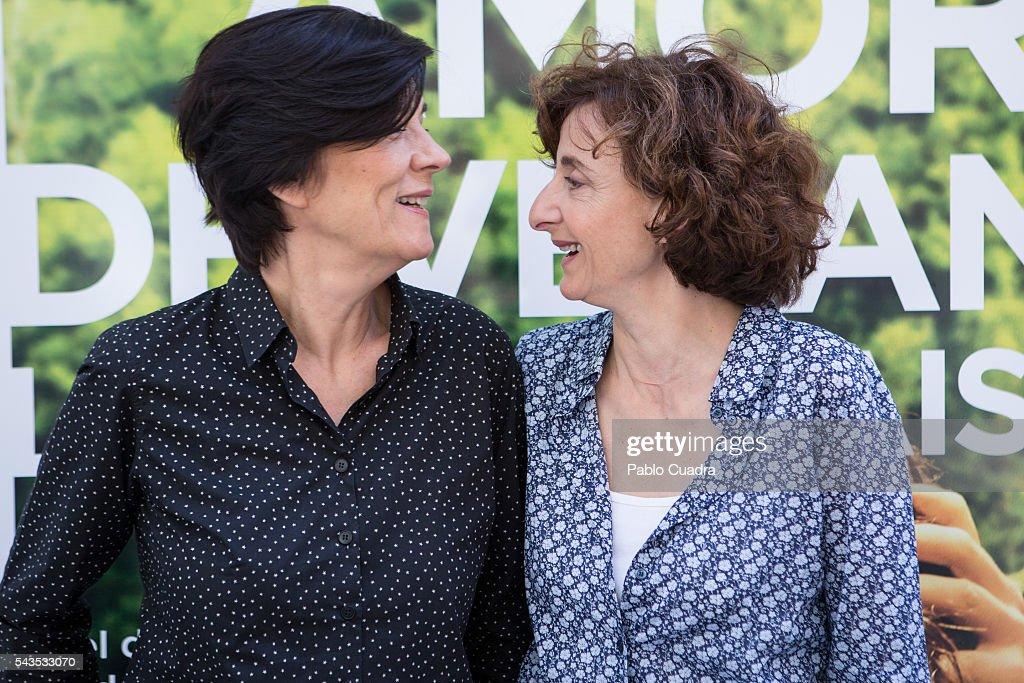 Director Catherine Corsini and producer Elisabeth Perez present 'La Belle Saison' (Un Amor de Verano) at Golem Cinema on June 29, 2016 in Madrid, Spain.