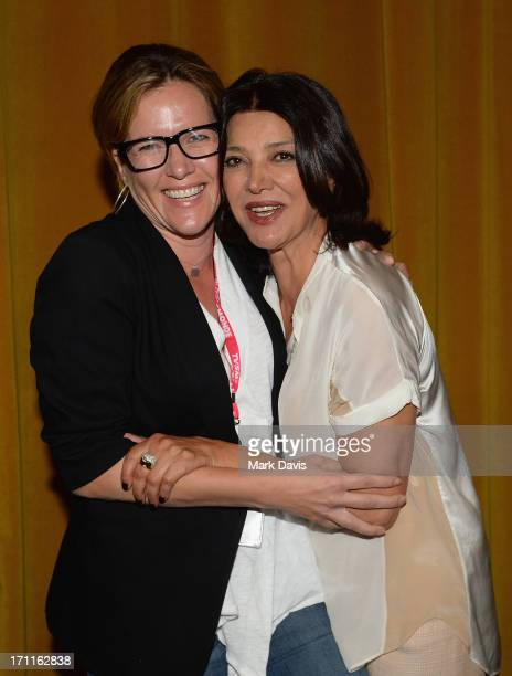 Director Catherine Dent and actress Shohreh Aghdashloo attend the2013 Palm Springs ShortFest 'Shooting Stars' Screening held at the Camelot theater...