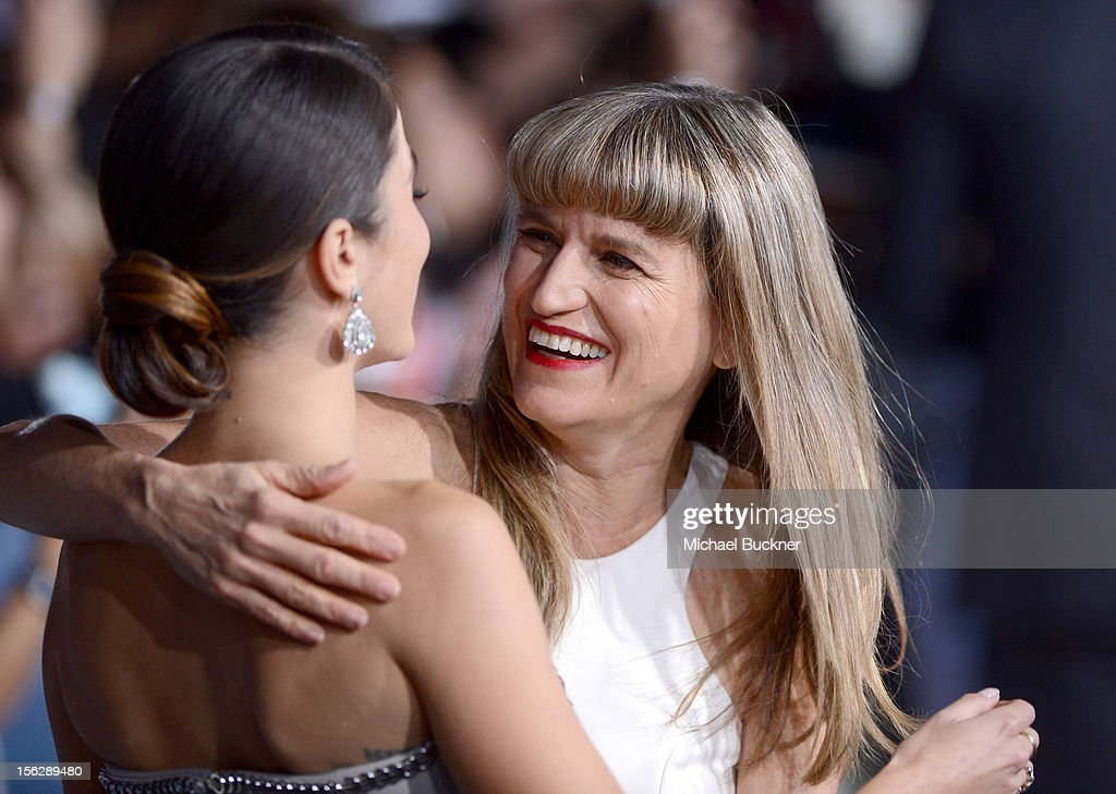 Director Catherine Hardwicke (L) and actress Nikki Reed arrive at the premiere of Summit Entertainment's 'The Twilight Saga: Breaking Dawn - Part 2' at Nokia Theatre L.A. Live on November 12, 2012 in Los Angeles, California.