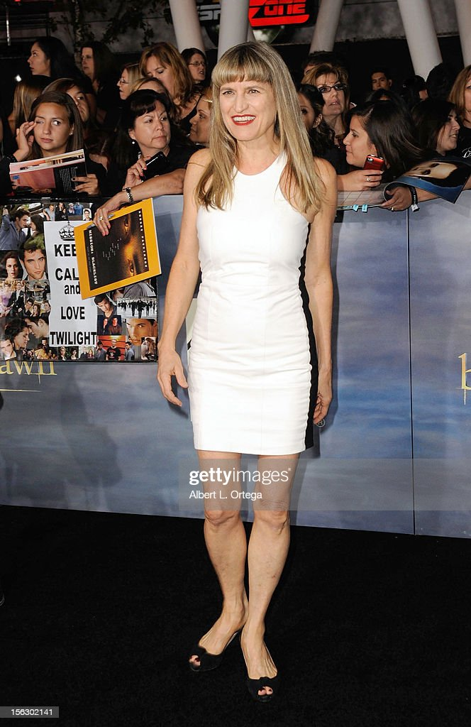 Director Catherine Hardwicke arrives at the Premiere Of Summit Entertainment's 'The Twilight Saga: Breaking Dawn - Part 2' - Arrivals held at Nokia Theatre L.A. Live on November 12, 2012 in Los Angeles, California.