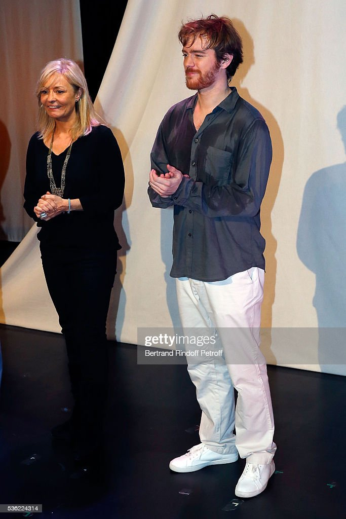 Director Catherine Morrisson and Actor Gael Giraudeau attend 'L'oiseau Bleu' at Theatre Hebertot on May 31, 2016 in Paris, France.
