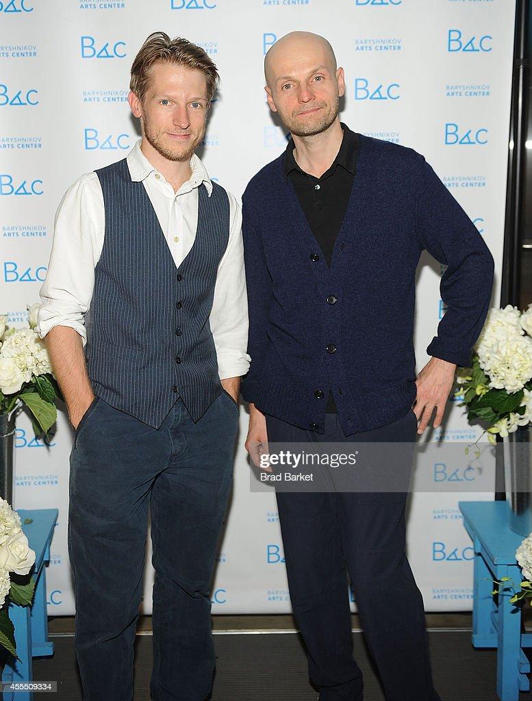 Director Cazimir Liske and Ivan Viripaev attend the 2014 Baryshnikov Arts Center Fall Fete at Baryshnikov Art Center on September 15 2014 in New York...