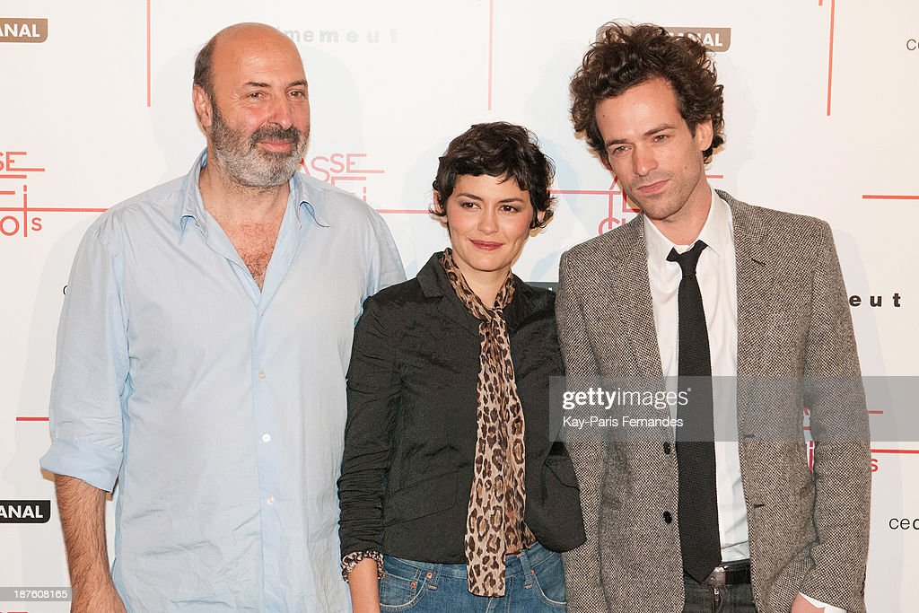 Director Cedric Klapisch, actors Audrey Tautou and Romain Duris attends the 'Casse Tete Chinois' Paris Premiere at Le Grand Rex on November 10, 2013 in Paris, France.