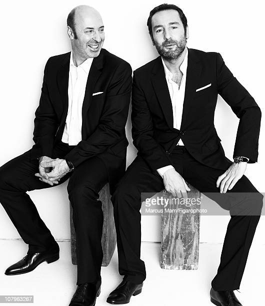 Director Cedric Klapisch and actor Gilles Lellouche are photographed for Madame Figaro on December 10 2010 in Paris France Published image Figaro ID...