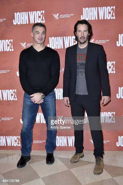 Director Chad Stahelski and Keanu Reeves attend the 'John Wick 2' Paris Premiere at Hotel Ritz on February 7 2017 in Paris France