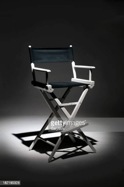 Director chair with spotlight on it