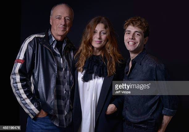 Director Charles Biname actress Catherine Keener and actor Xavier Dolan of 'Elephant Song' pose for a portrait during the 2014 Toronto International...