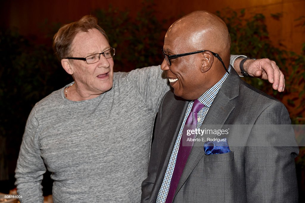 Director Charles Haid (L) and DGA President <a gi-track='captionPersonalityLinkClicked' href=/galleries/search?phrase=Paris+Barclay&family=editorial&specificpeople=792316 ng-click='$event.stopPropagation()'>Paris Barclay</a> attend the 68th Annual Directors Guild Of America Awards Feature Film Symposium at Directors Guild of America on February 6, 2016 in Los Angeles, California.