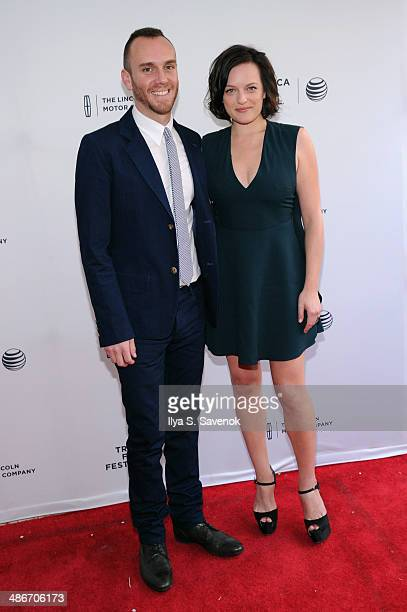 Director Charlie McDowell and Actress Elisabeth Moss attend the 'The One I Love' Premiere during the 2014 Tribeca Film Festival at the SVA Theater on...