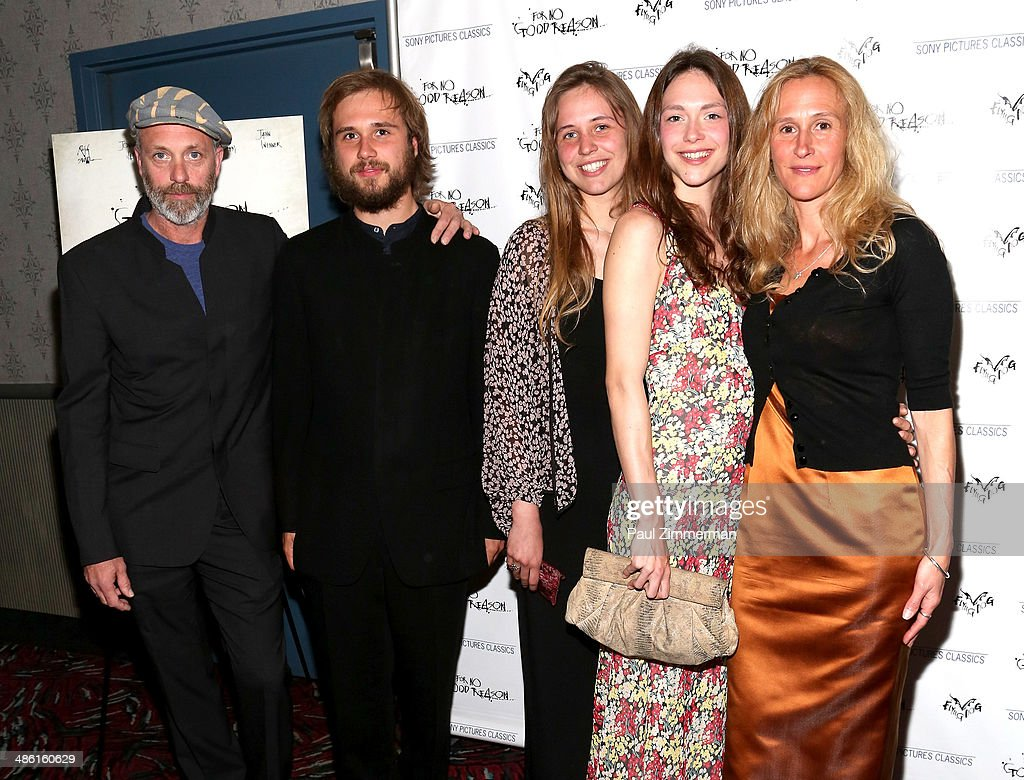 Director Charlie Paul (L), producer Lucy Paul (R), and family members attend the 'For No Good Reason' screening at AMC Loews 19th Street Theater on April 22, 2014 in New York City.