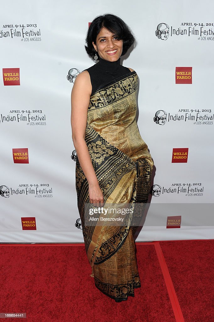 Director Chithra Jeyaram attends the 11th Annual Indian Film Festival of Los Angeles Closing Night Gala premiere of 'Midnight's Children' at ArcLight Hollywood on April 14, 2013 in Hollywood, California.