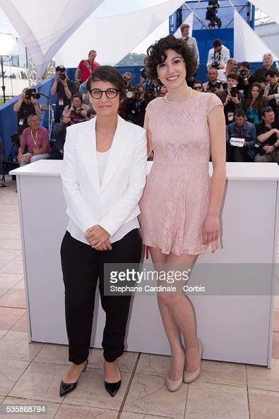 Director Chloe Robichaud and Fanny Laure Malo attend the 'Sarah Prefere La Course' Photo call during the 66th Cannes International Film Festival
