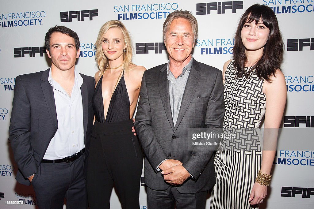 Director <a gi-track='captionPersonalityLinkClicked' href=/galleries/search?phrase=Chris+Messina&family=editorial&specificpeople=541094 ng-click='$event.stopPropagation()'>Chris Messina</a>, actress <a gi-track='captionPersonalityLinkClicked' href=/galleries/search?phrase=Katie+Nehra&family=editorial&specificpeople=6583941 ng-click='$event.stopPropagation()'>Katie Nehra</a>, actor <a gi-track='captionPersonalityLinkClicked' href=/galleries/search?phrase=Don+Johnson&family=editorial&specificpeople=211250 ng-click='$event.stopPropagation()'>Don Johnson</a> and actress <a gi-track='captionPersonalityLinkClicked' href=/galleries/search?phrase=Mary+Elizabeth+Winstead&family=editorial&specificpeople=782914 ng-click='$event.stopPropagation()'>Mary Elizabeth Winstead</a> arrive at the premiere of 'Alex Of Venice' in San Francisco International Film Festival on May 8, 2014 in San Francisco, California.