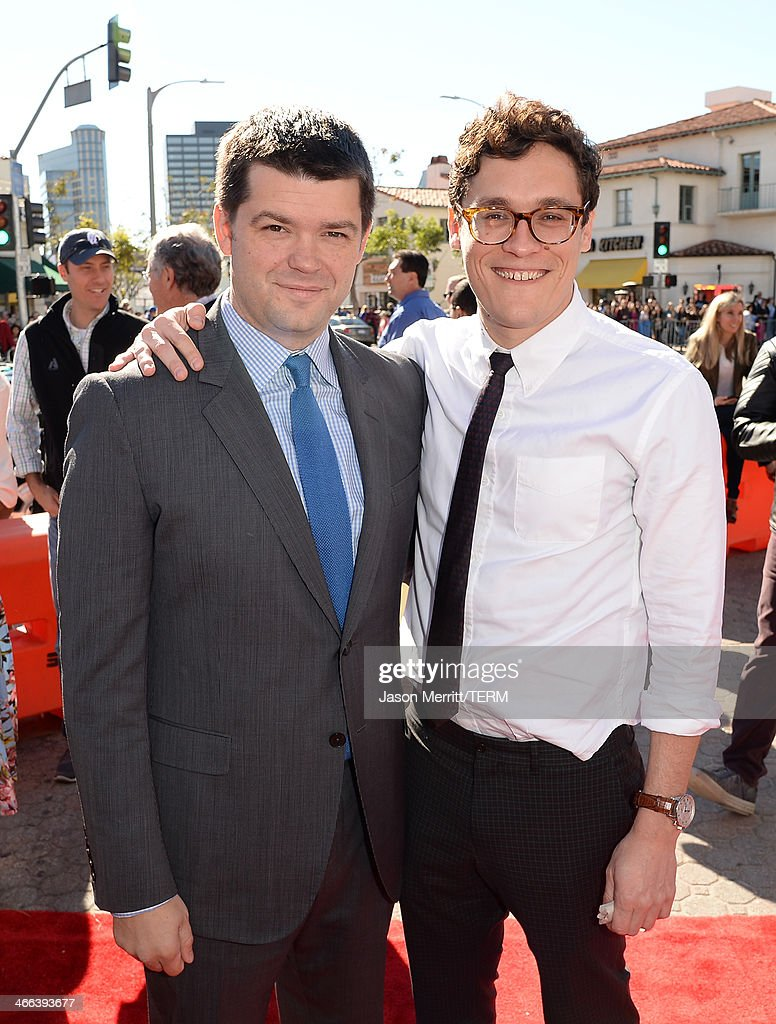 Director Chris Miller and Director <a gi-track='captionPersonalityLinkClicked' href=/galleries/search?phrase=Phil+Lord&family=editorial&specificpeople=884338 ng-click='$event.stopPropagation()'>Phil Lord</a> attend the premiere of 'The LEGO Movie' at Regency Village Theatre on February 1, 2014 in Westwood, California.