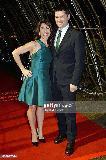 Director Chris Miller and guest attend the EE British Academy Awards nominees party at Kensington Palace on February 7 2015 in London England