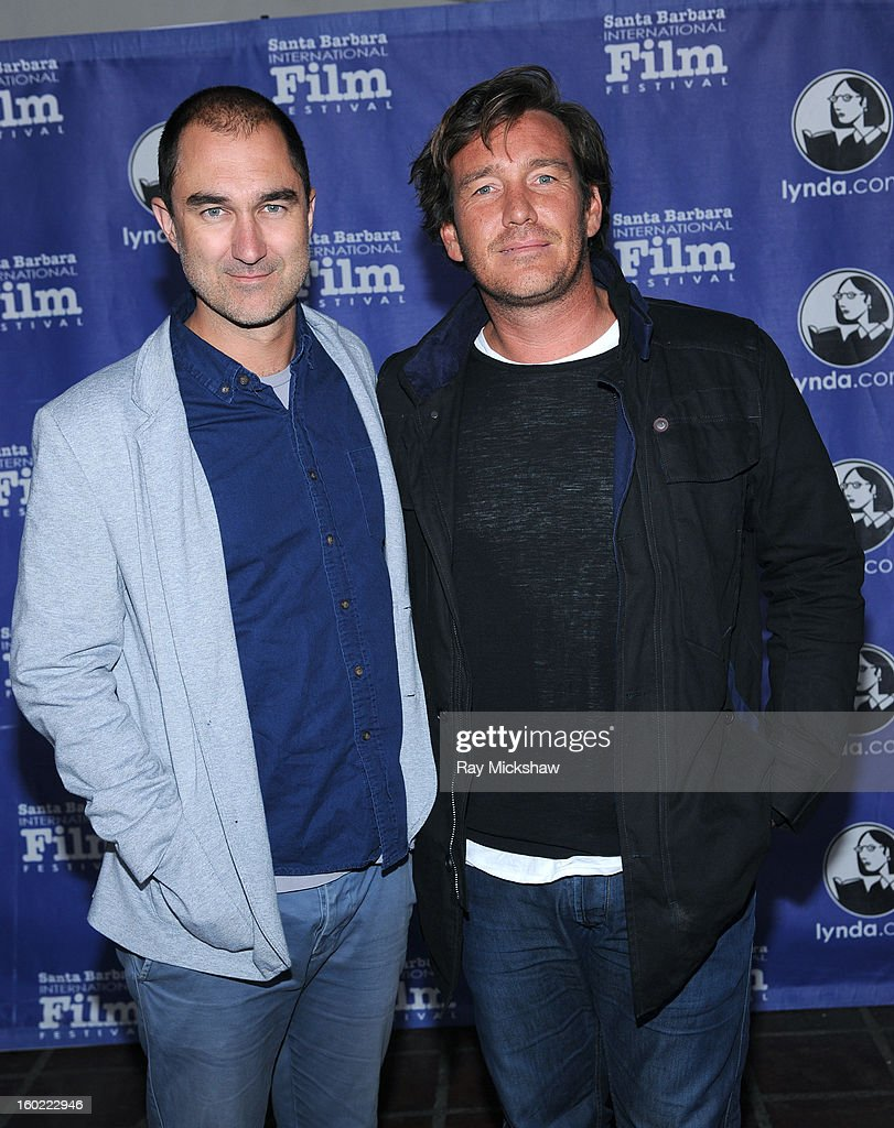 Director Chris Neilus and surfer Justin McMillan attend the screening of 'Storm Surfers 3D' at the 28th Santa Barbara International Film Festival on January 27, 2013 in Santa Barbara, California.