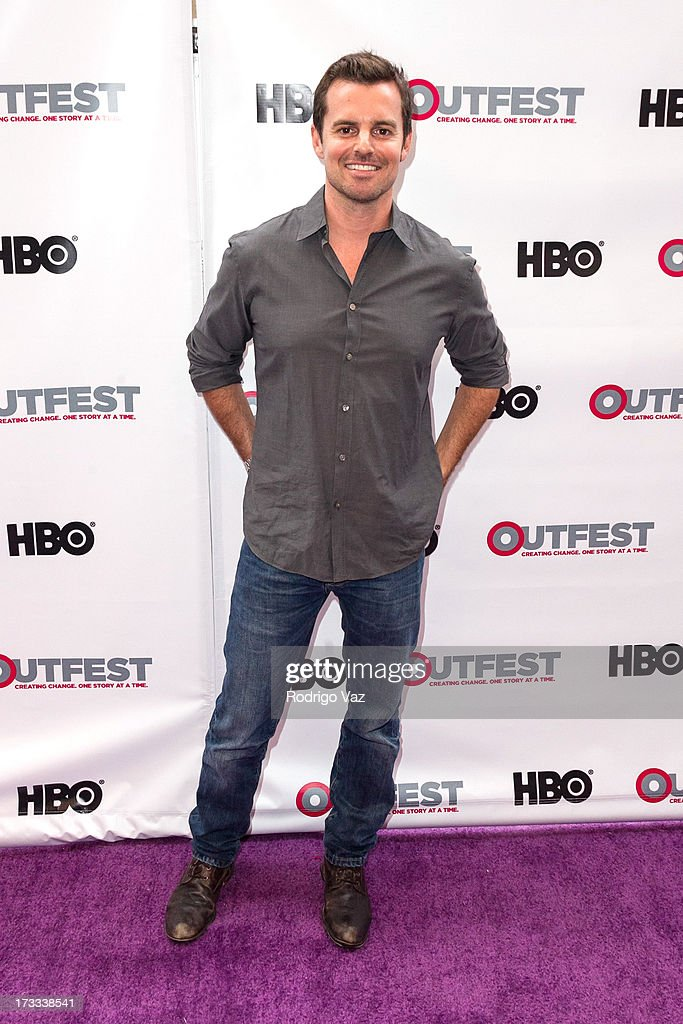 Director Chris Nelson arrives at the 13th Annual Outfest Opening Night Gala Of 'C.O.G.' at Orpheum Theatre on July 11, 2013 in Los Angeles, California.