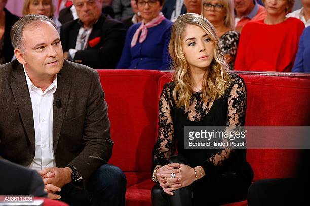 Director Christian Carion and Actress Alice Isaaz present the Movie 'En Mai fait ce qu'il te plait' during the 'Vivement Dimanche' French TV Show at...