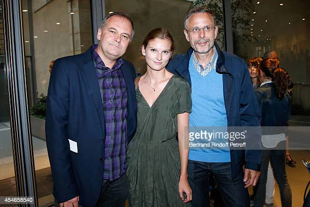 Director Christian Carion his daughter Sophie and Producer Christophe Roussillon attend the 'Jerome Seydoux Pathe Foundation' Opening party on...