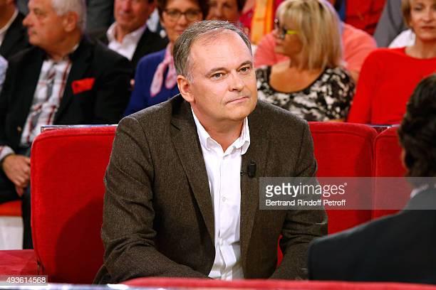 Director Christian Carion presents the Movie 'En Mai fait ce qu'il te plait' during the 'Vivement Dimanche' French TV Show at Pavillon Gabriel on...