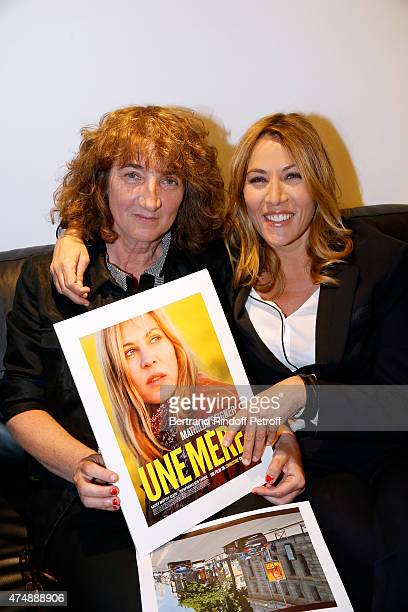 Director Christine Carriere and actress Mathilde Seigner present the movie 'Une Mere' during the 'Vivement Dimanche' French TV Show at Pavillon...