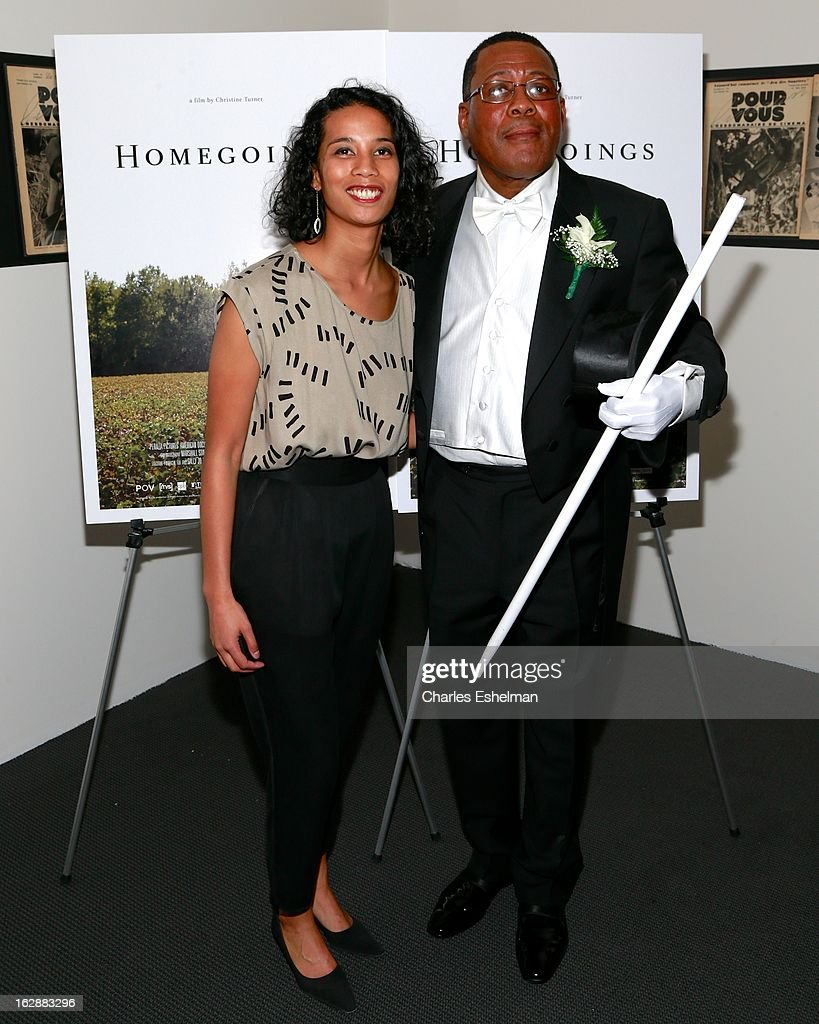 Director Christine Turner and Funeral director Isaiah Owens attend the 'Homegoings' premiere at The Museum of Modern Art on February 28, 2013 in New York City.