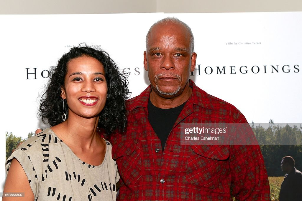 Director Christine Turner and Stanley Nelson attend the 'Homegoings' premiere at The Museum of Modern Art on February 28, 2013 in New York City.