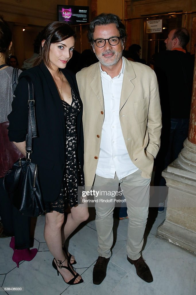 Director Christophe Barratier and his companion actress Gwendoline Doycheva attend the Concert of Patrick Bruel at Theatre Du Chatelet on June 6 2016...