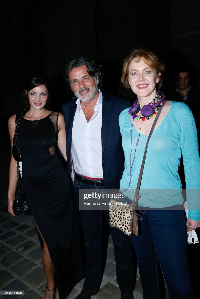Director Christophe Barratier satnding between his companion actress Gwendoline Doycheva and actress Agnes Soral attend the 'Claude Lelouch en...