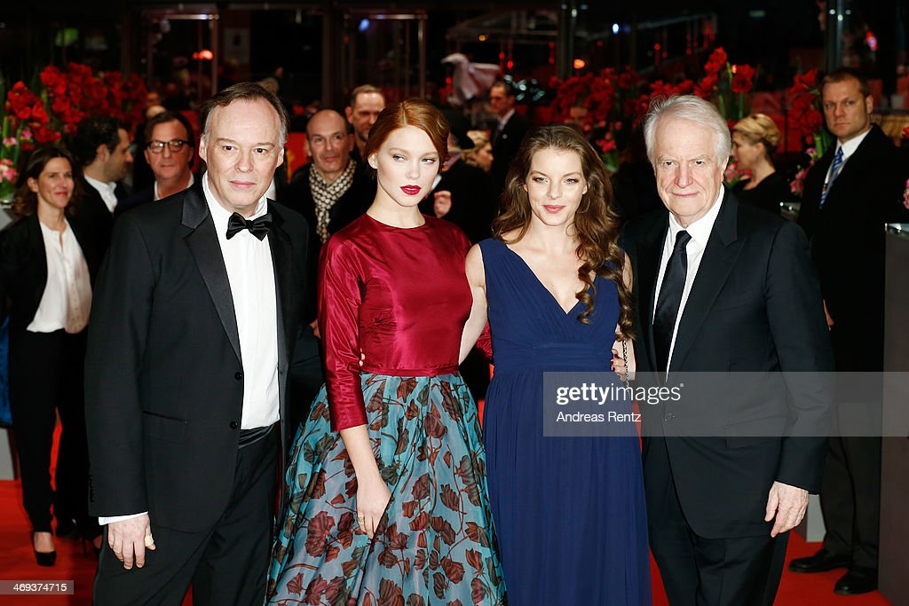 Director Christophe Gans, actress Lea Seydoux, actress <a gi-track='captionPersonalityLinkClicked' href=/galleries/search?phrase=Yvonne+Catterfeld&family=editorial&specificpeople=228473 ng-click='$event.stopPropagation()'>Yvonne Catterfeld</a> and actor <a gi-track='captionPersonalityLinkClicked' href=/galleries/search?phrase=Andre+Dussollier&family=editorial&specificpeople=2363140 ng-click='$event.stopPropagation()'>Andre Dussollier</a> attend the 'La belle et la bete' (Die Schoene und das Biest) premiere during 64th Berlinale International Film Festival at Berlinale Palast on February 14, 2014 in Berlin, Germany.