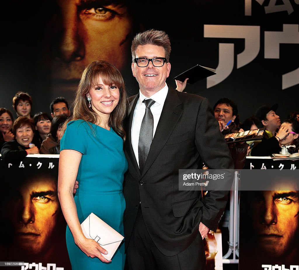 Director Christopher McQuarrie (R) and his wife Heather McQuarrie pose on the red carpet during the 'Jack Reacher' Japan Premiere at Tokyo International Forum on January 9, 2013 in Tokyo, Japan.