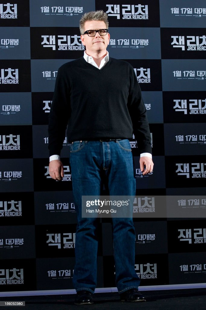 Director Christopher McQuarrie attends the 'Jack Reacher' press conference at Conrad Hotel on January 10, 2013 in Seoul, South Korea. The film will open on January 17 in South Korea.