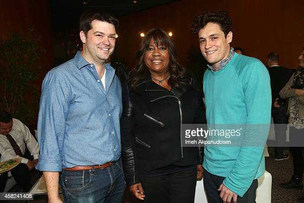 Director Christopher Miller Chaz Ebert and Phil Lord attend Deadline's The Contenders at DGA Theater on November 1 2014 in Los Angeles California