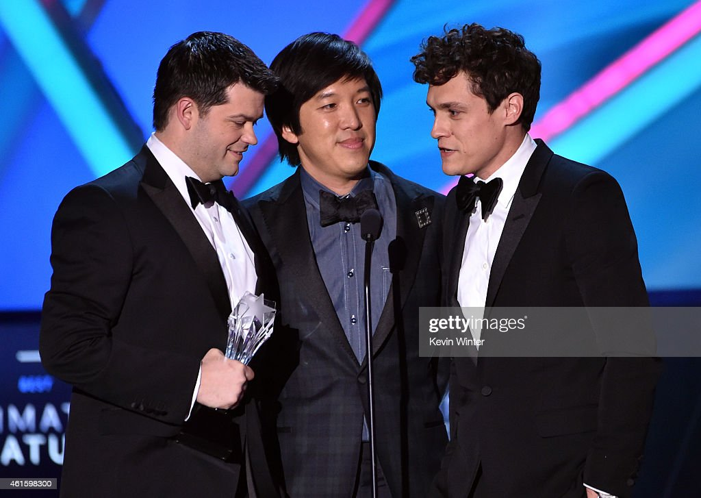 Director Christopher Miller, producer Dan Lin, and director <a gi-track='captionPersonalityLinkClicked' href=/galleries/search?phrase=Phil+Lord&family=editorial&specificpeople=884338 ng-click='$event.stopPropagation()'>Phil Lord</a> accept the Best Animated Feature award for 'The Lego Movie' onstage during the 20th annual Critics' Choice Movie Awards at the Hollywood Palladium on January 15, 2015 in Los Angeles, California.