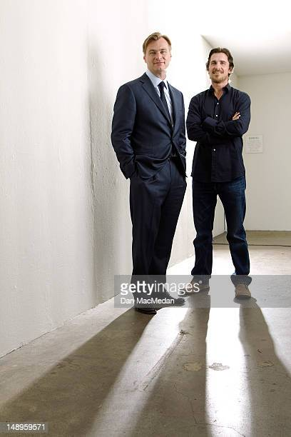 Director Christopher Nolan and actor Christian Bale are photographed for USA Today on July 7 2012 in Beverly Hills California PUBLISHED IMAGE