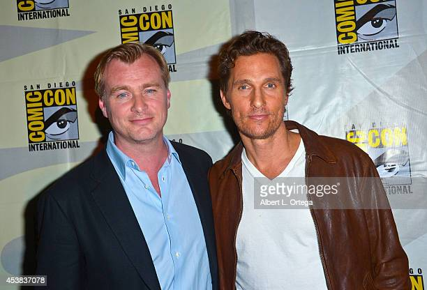 Director Christopher Nolan and actor Matthew McConaughey at the 'Interstellar' panel for the Paramount Studios Presentation on Day 1 of ComicCon...