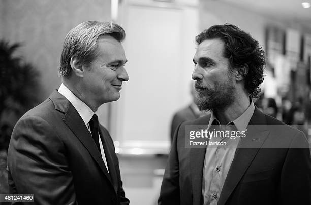 Director Christopher Nolan and actor Matthew McConaughey attend the 15th Annual AFI Awards at Four Seasons Hotel Los Angeles at Beverly Hills on...