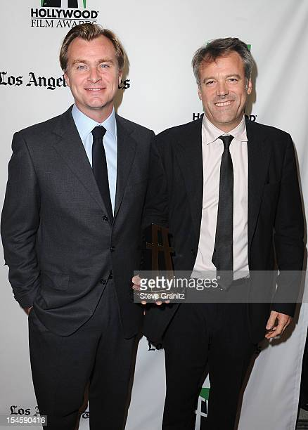 Director Christopher Nolan and cinematographer Wally Pfister attend the 16th Annual Hollywood Film Awards Gala presented by The Los Angeles Times...