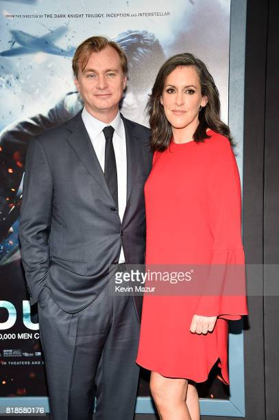 Director Christopher Nolan and Emma Thomas attend the 'DUNKIRK' premiere in New York City