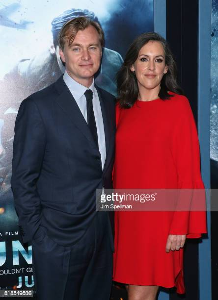 Director Christopher Nolan and producer Emma Thomas attend the 'DUNKIRK' New York premiere at AMC Lincoln Square IMAX on July 18 2017 in New York City