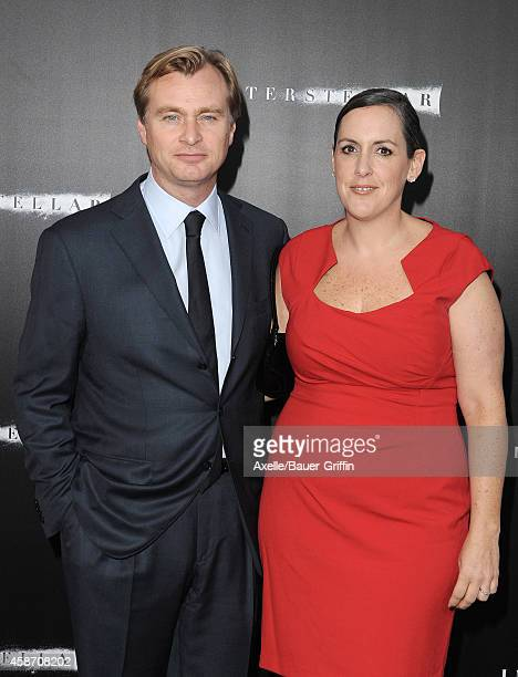 Director Christopher Nolan and wife producer Emma Thomas arrive at the Los Angeles Premiere of 'Interstellar' at TCL Chinese Theatre IMAX on October...