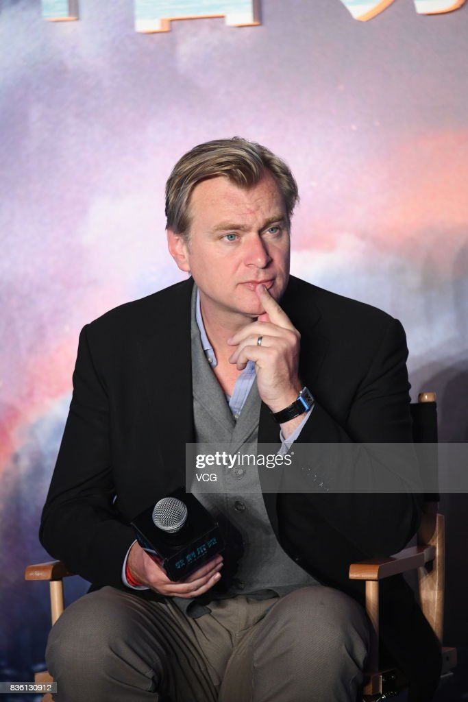 Director Christopher Nolan attends 'Dunkirk' press conference on August 21, 2017 in Beijing, China.