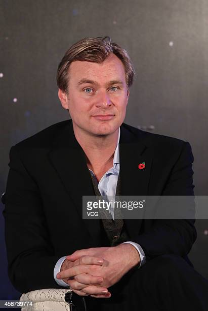 Director Christopher Nolan attends 'Interstellar' press conference at Peninsula Hotel on November 10 2014 in Shanghai China
