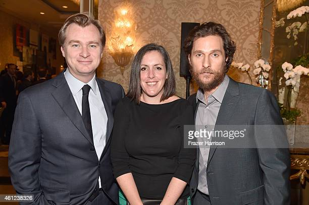 Director Christopher Nolan producer Emma Thomas and actor Matthew McConaughey attend the 15th Annual AFI Awards at Four Seasons Hotel Los Angeles at...