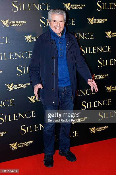 Director Claude Lelouch attends the 'Silence' Paris Premiere at Musee National Des Arts Asiatiques Guimet on January 12 2017 in Paris France