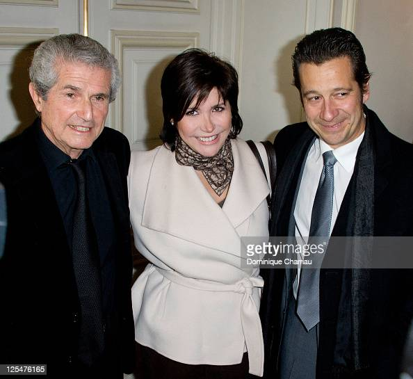 Director Claude Lelouch Liane Foly and Laurent Gerra attend the award ceremony for the medal vermilion city of Paris presented by the Mayor of Paris...
